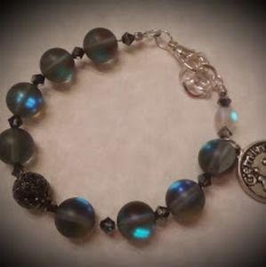 Black Moonstone Zodiac Bracelet